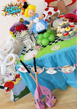 Croquet anyone? At Mad Hatter's Tea Party